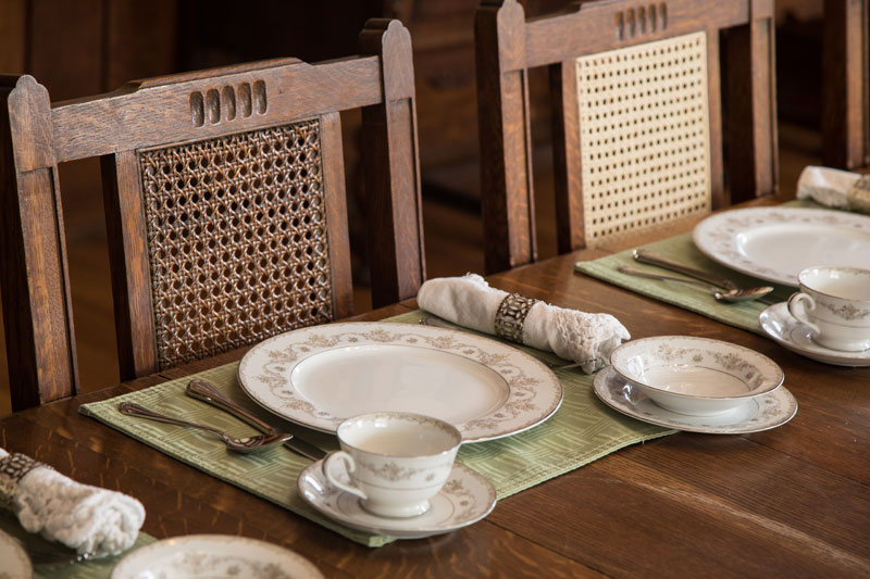 a place setting of fine china