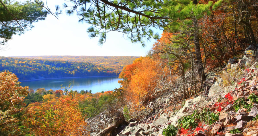 A trek around Devils's Lake State Park is a must-do for those visiting Baraboo, Wisconsin.